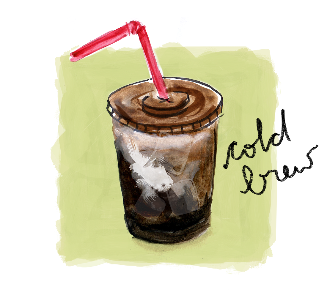 cold brew recipe illustration lauren monaco