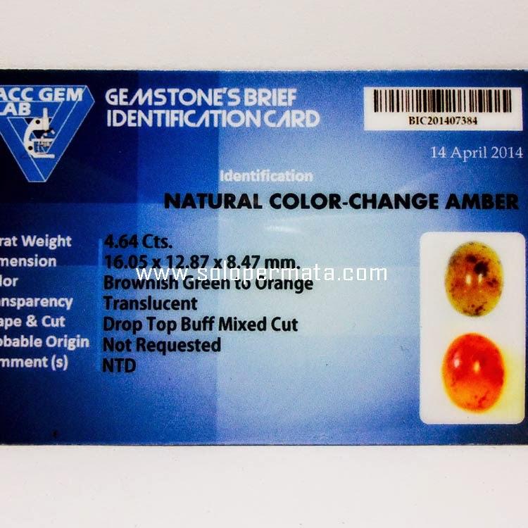 Batu Permata Color Change Amber+Memo