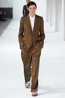 кафяв мъжки костюм с широк панталон