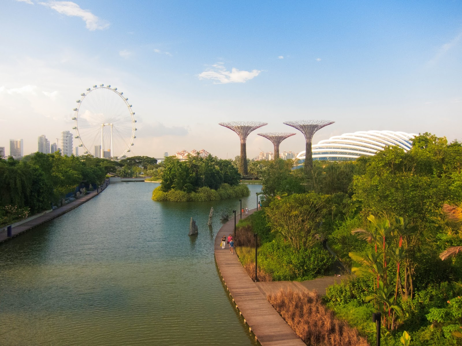 Singapore Flyer and view over Gardens by the Bay | Svelte Salivations - Travel