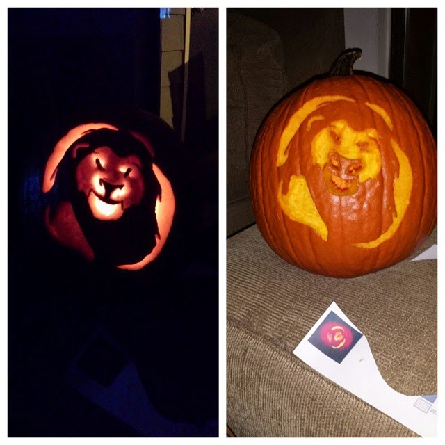Simba Pumpkin Carving