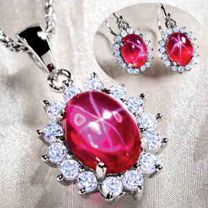 Latest Diamond Ruby Set Designs