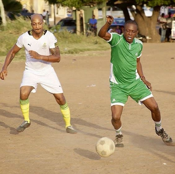 IK Ogbonna & Nkem Owoh show off football skills