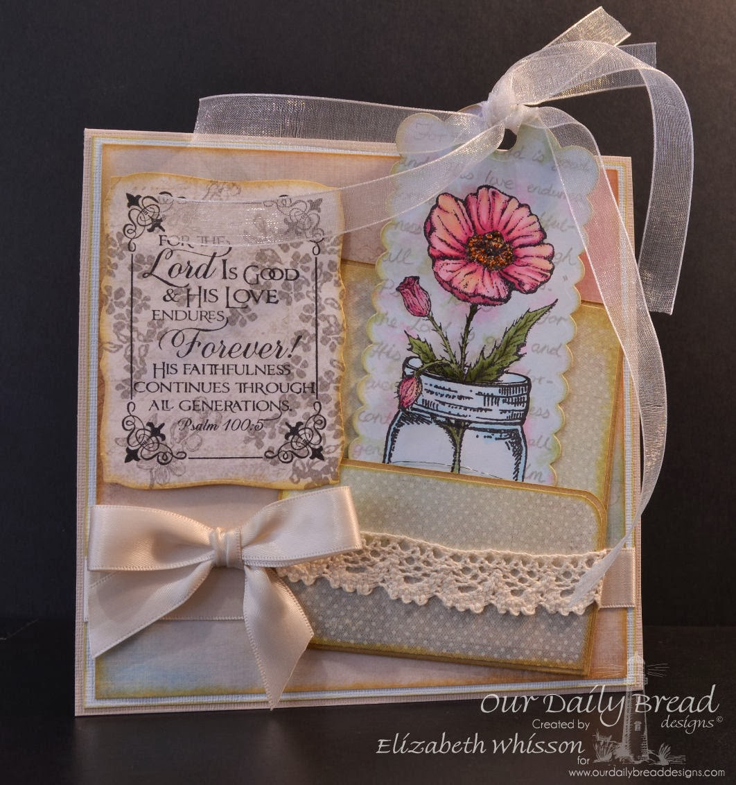 Our Daily Bread Designs, Canning Jars, Poppy Single, Fleur de Lis Borders, Scripture Collection 11, ODBD Custom Bookmark Dies, Elizabeth Whisson