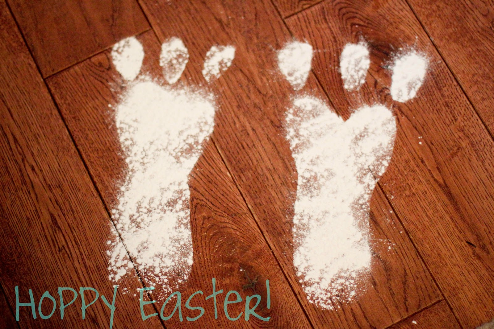 Easter Bunny Footprints Printable Hop to it: a bunny powder
