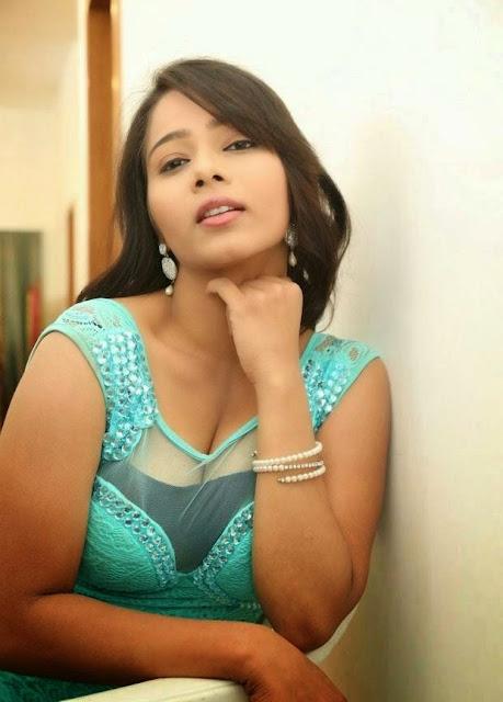 Mitra Stills in Cyan Colour Skirt