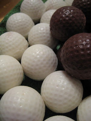 Golf Ball Cheesecake Balls - Close-Up 2