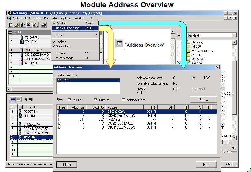 Module Address Overview