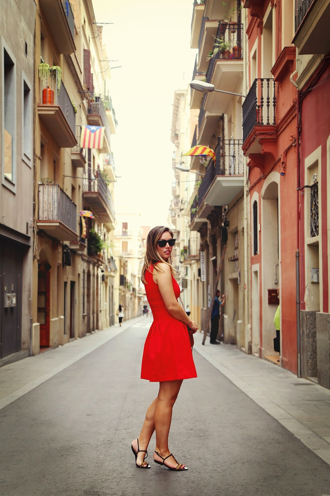 to vogue or bust, vancouver style blog, vancouver fashion blog, vancouver travel blog, canadian fashion blog, canadian style blog, canadian travel blog, sightseeing in barcelona, what to see in barcelona, barcelona tourism, barcelona sights, gracia barcelona, where to eat in barcelona, best tapas in barcelona, best bars in barcelona, tapa bar barcelona, what to see in gracia barcelona, travelling to barcelona, barcelona in 3 days, red dress spain, barcelona street style, zara leopard sandals, rebecca minkoff mini mac bag, spanish street style, what to wear in barcelona, best fashion blog, best style blog, top fashion blog, top style blog