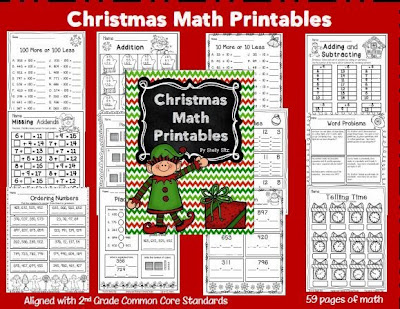 http://www.teacherspayteachers.com/Product/Christmas-Math-Printables-1001772