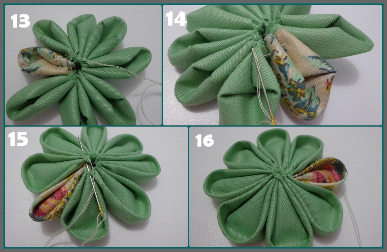 Fiorella Flores en tela: Tutorial #3 Flor japonesa