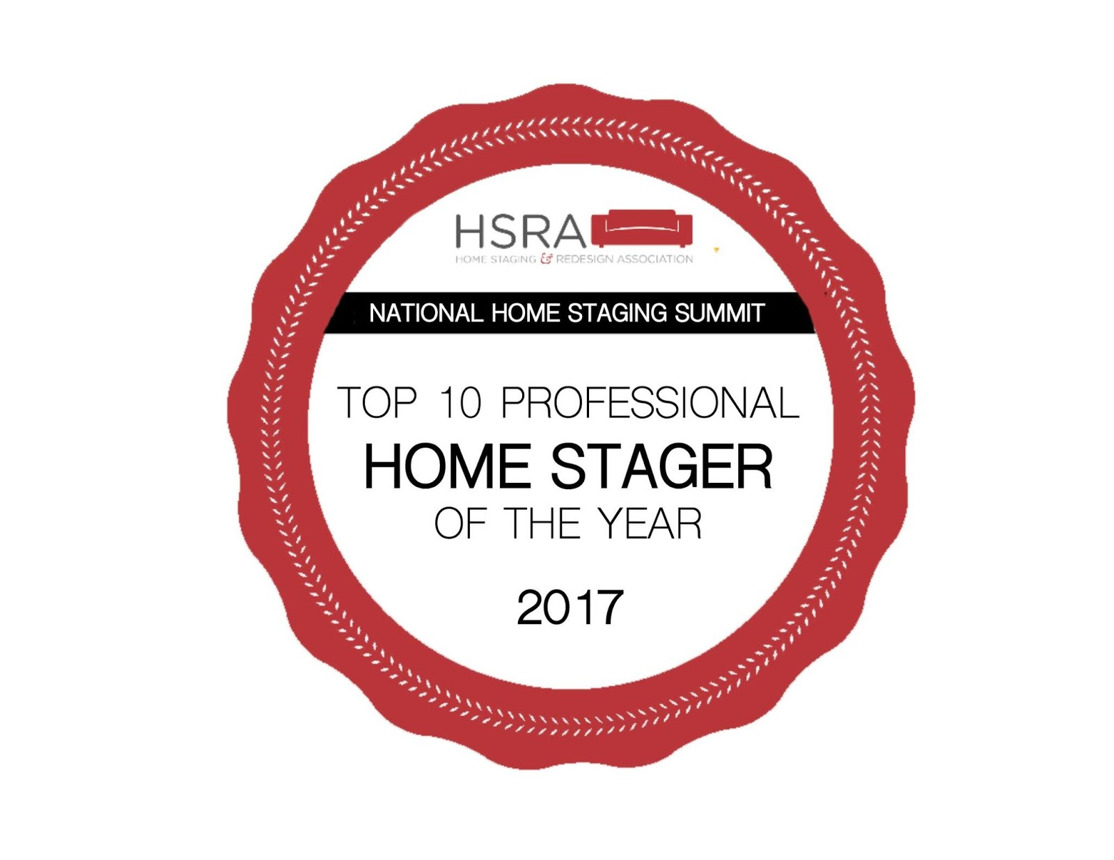 National Award Winner : Top 10 Home Stager of 2017
