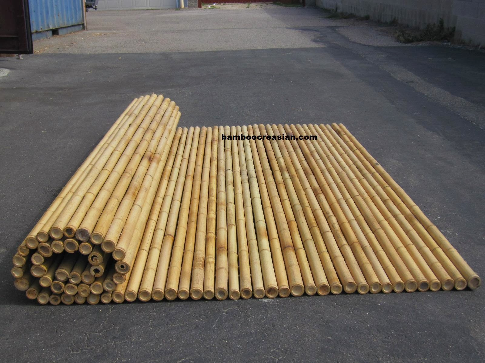 Allbamboo Product4sale Decorative Bamboo~fencing/wainscot Ply Paneling/poles/palapa+umbrella/chickee:  Affordable Fence Supply Bamboo Roll/panel Rolled ...