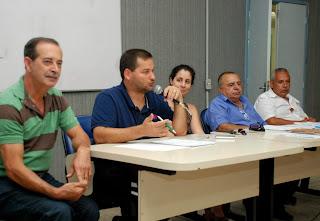 Secretário Municipal de Saúde, Carlos Otávio Sant'Anna, e o vereador José Antonio Francisco acompanharam a  eleição do novo Conselho de Saúde