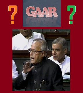 Gaar India meaning/full form in budget issue dtc provisions finance bill 2012 general latest news
