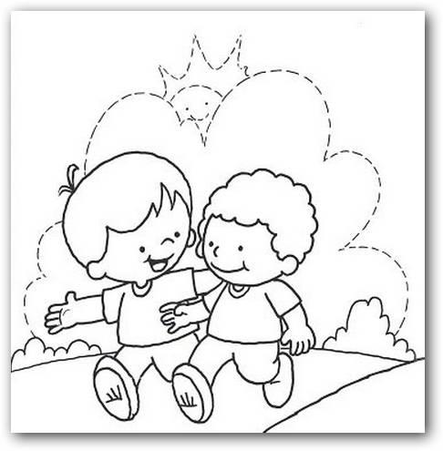 Dibujos para colorear dia de la amistad - Imagui