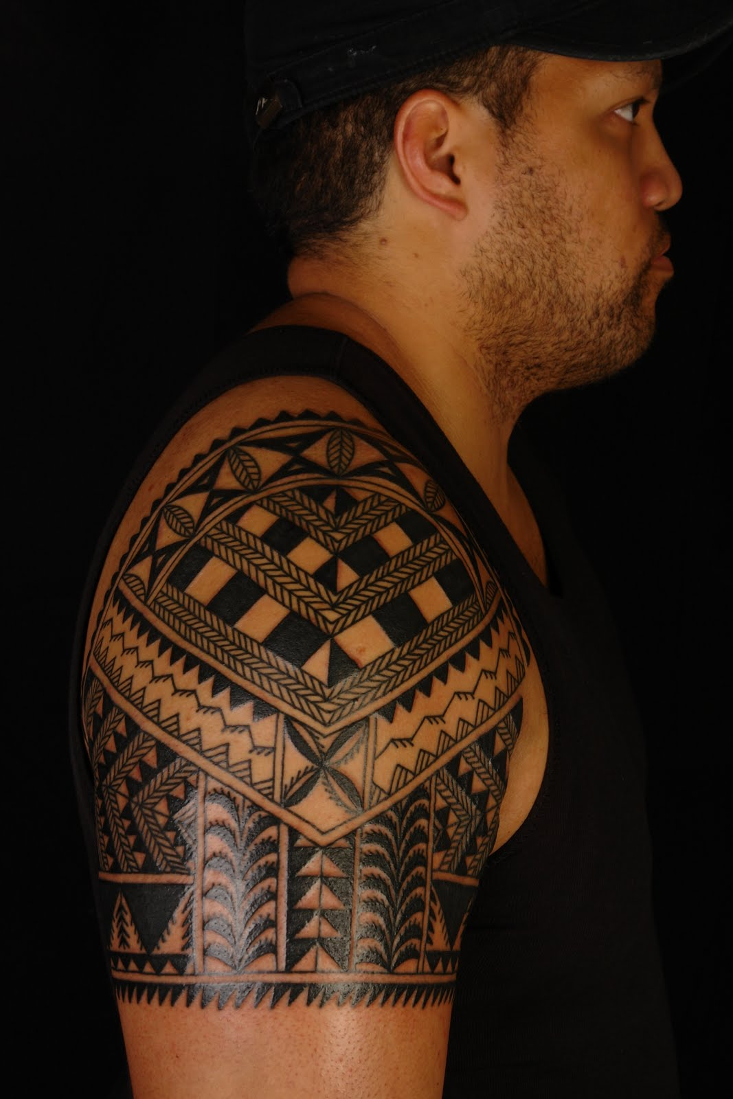 Niuean Shoulder Tattoo on Marlon