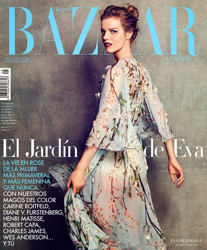 Eva Herzigova HQ Pictures Harper's Bazaar España Magazine Photoshoot March 2014 By Nico Bustos