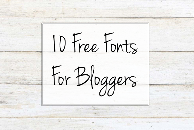 10 Free Fonts For Bloggers, Effortlessly Excessive, download free fonts