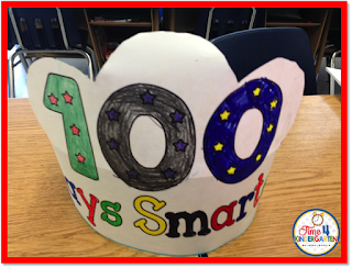 100th day of school hat, time4kindergarten
