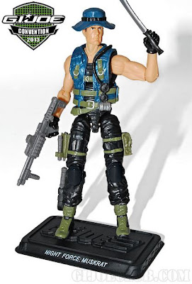 GI Joe 2013 Convention Exclusive Night Force Boxed Set - Muskrat figure