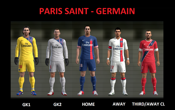 PES 2013 Paris Saint Germain Fantasy Kits by L.Donovan