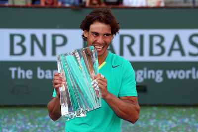 Rafael wth his 22nd ATP Masters Trophy