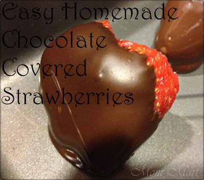 Easy Homemade Chocolate Covered Strawberries