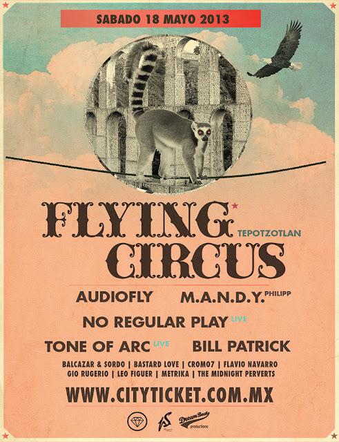 Sexto Aniversario de la fiesta de música electrónica Flying Circus
