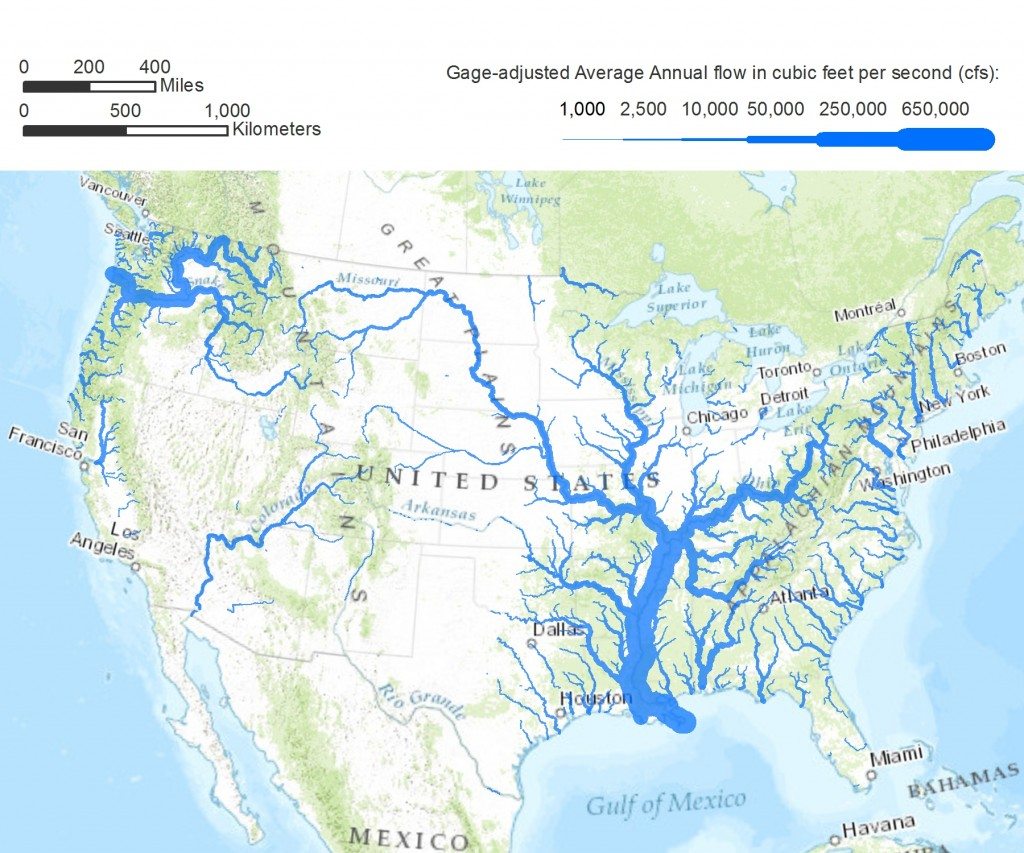 United States Map With Major Rivers System Pictures To Pin On - Picture of map of united states with rivers and lakes labeled