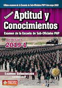 Ultimo examen de APTITUD y CONOCIMIENTOS ETS-PNP
