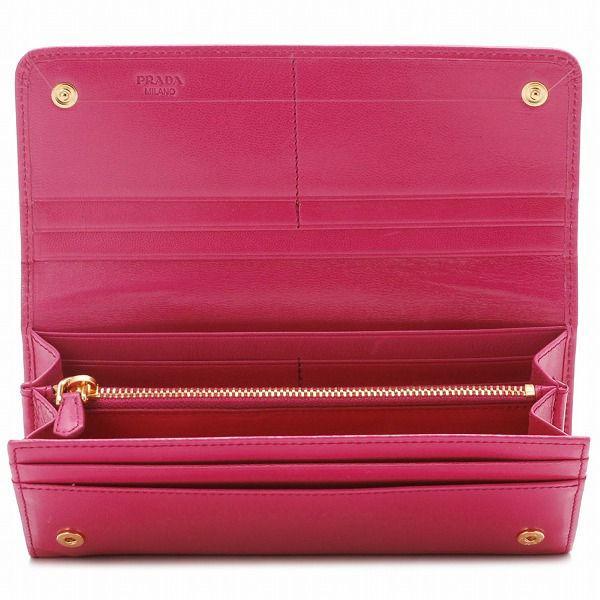 Prada Saffiano Fiocco Bow Leather Wallet (1M1132) | Polka B ...