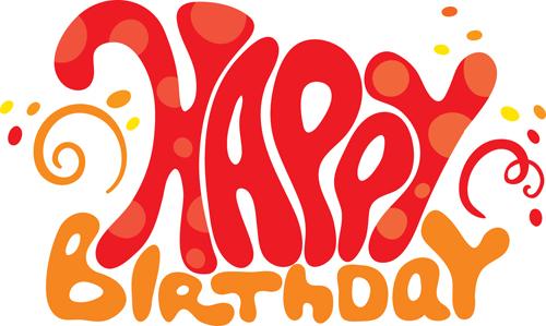 letters Happy Birthday