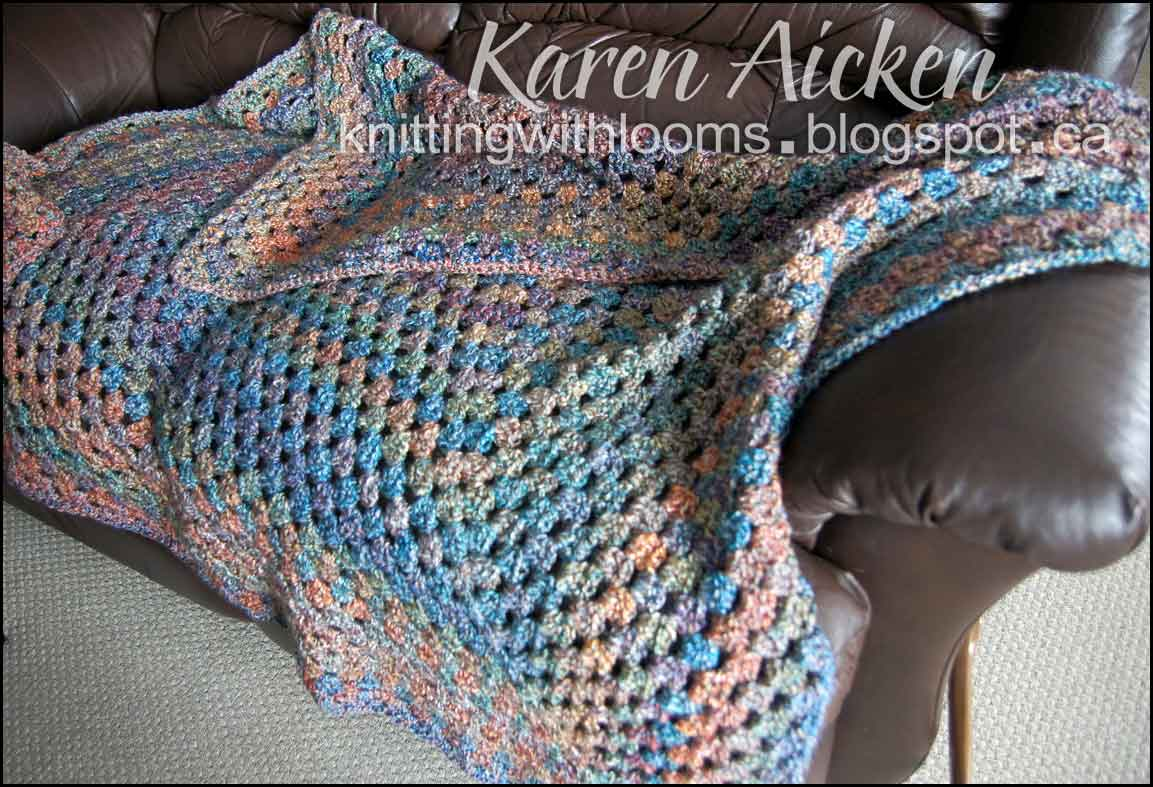 Knitting With Looms: Finished Afghan