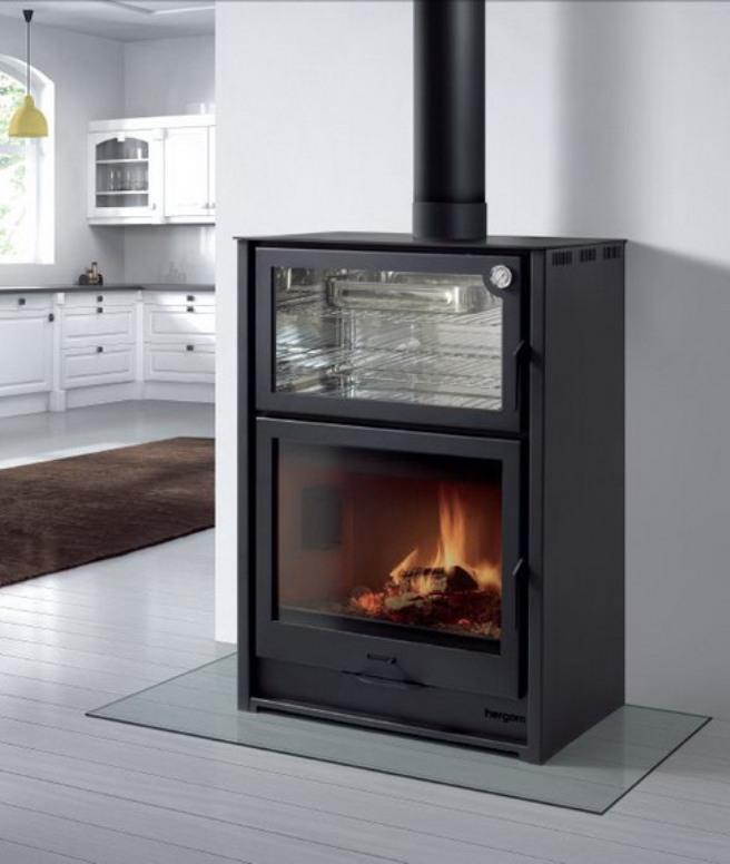 Chimeneas calor y confort estufa con horno - Estufa de calor ...