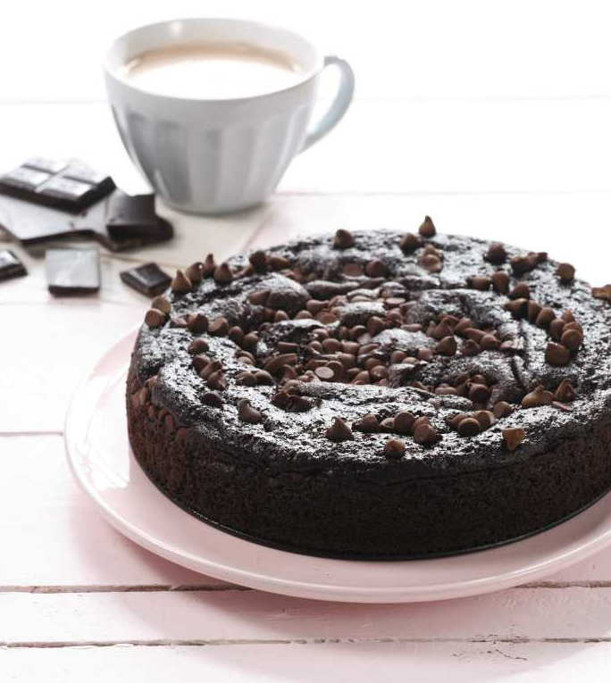 ... chocolate cake not me especially a cake with melted dark chocolate