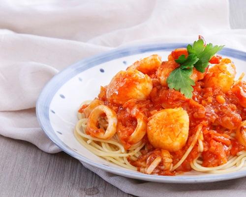 Món ngon: Mì Ý sốt hải sản