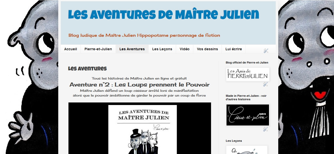 Blog officiel de Maître Julien l'hippopotame