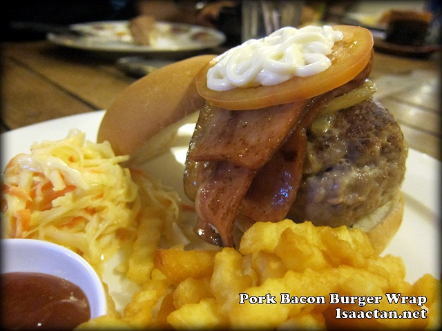 Pork Bacon Burger Wrap