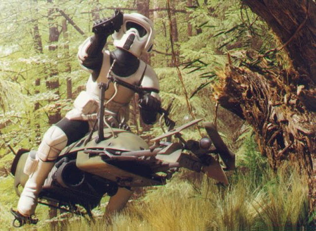 "The ""Scout Trooper"" work."
