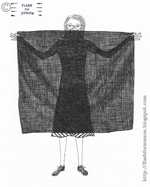 Presenting black scarf