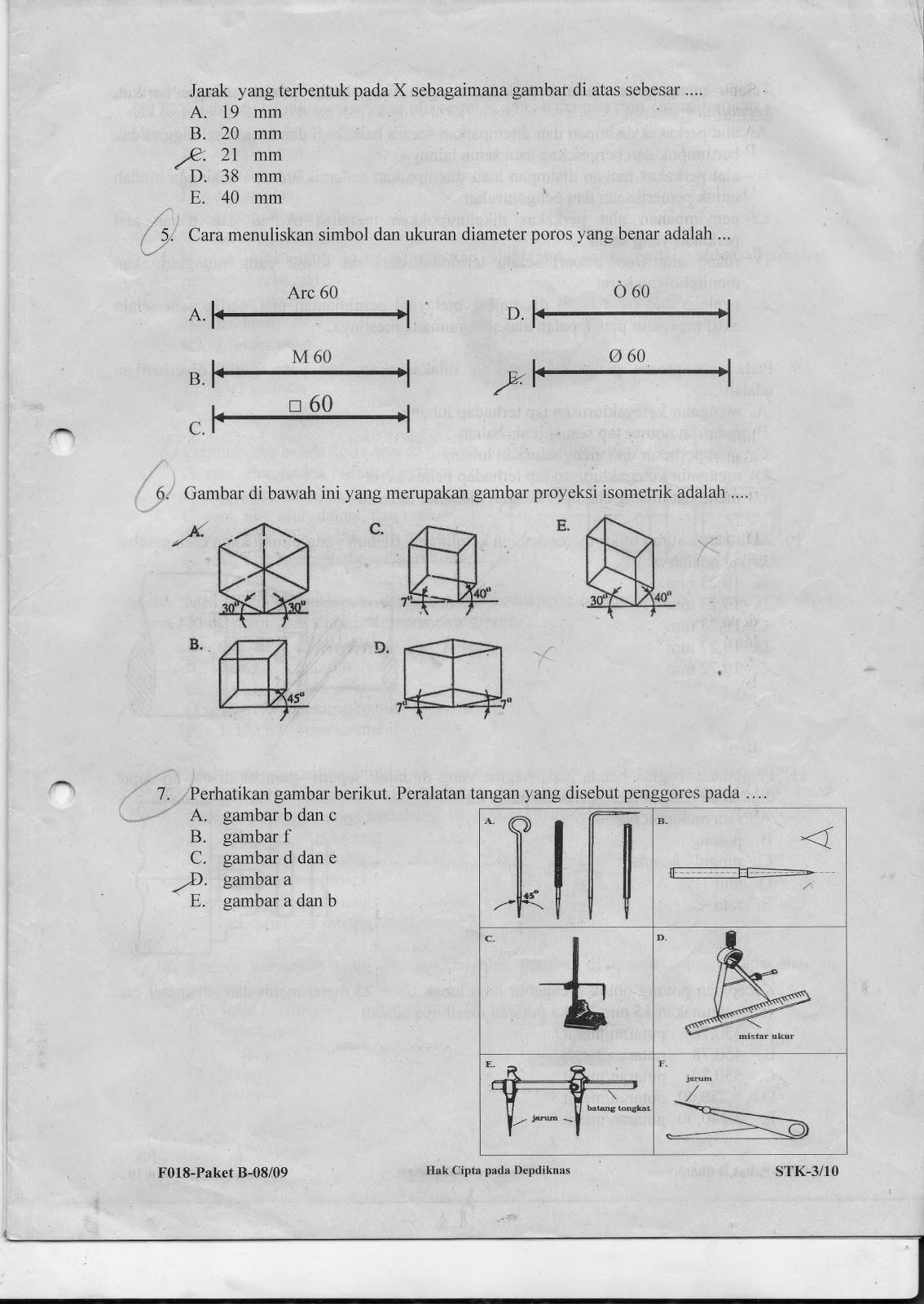 Soal Ujian Nasionalkejuruan T Pemesinan Tahun 2008 2009 Izza A R
