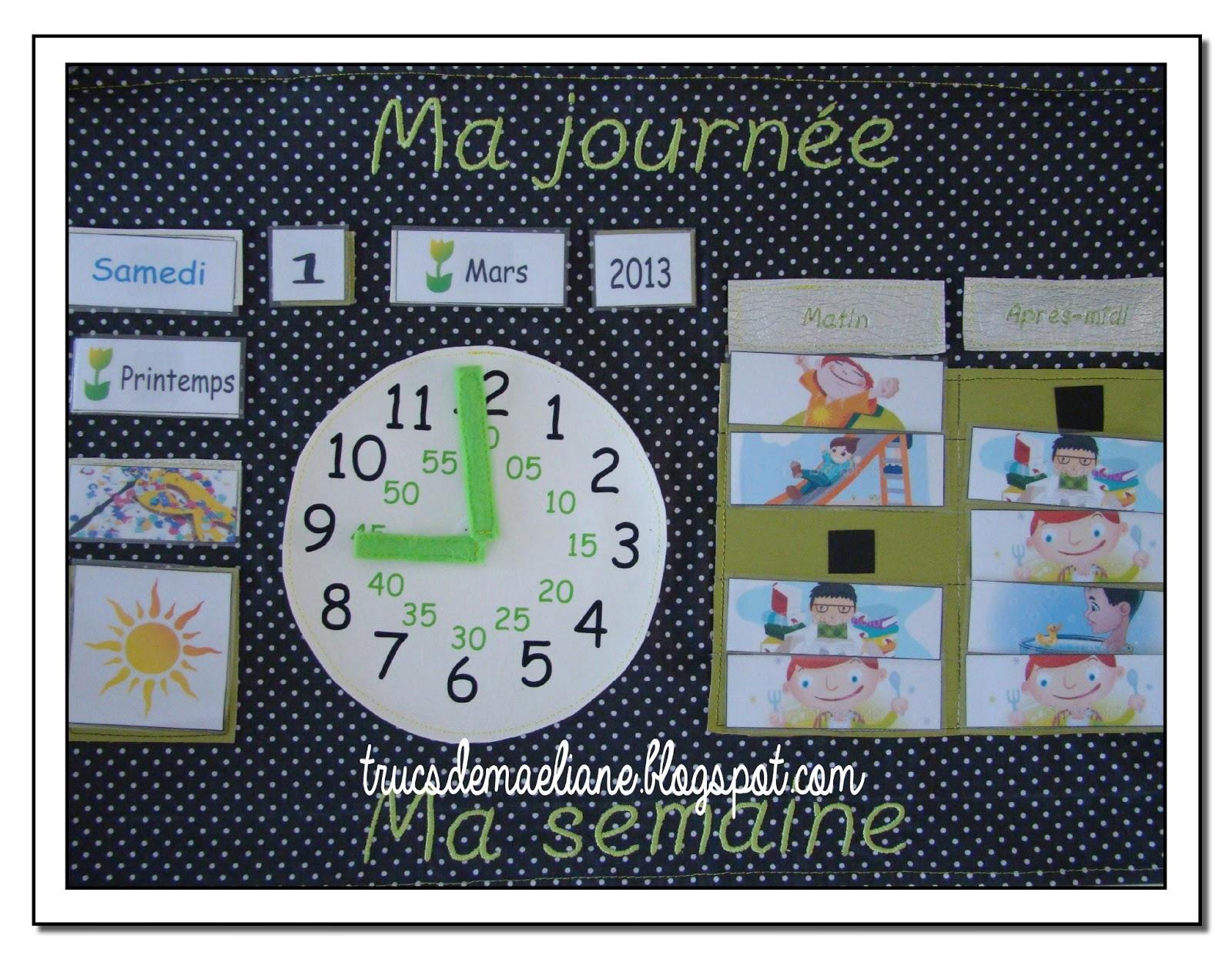 Extrem Trucs de Maëliane, le blog.: Tableau d'apprentissage du temps TW37