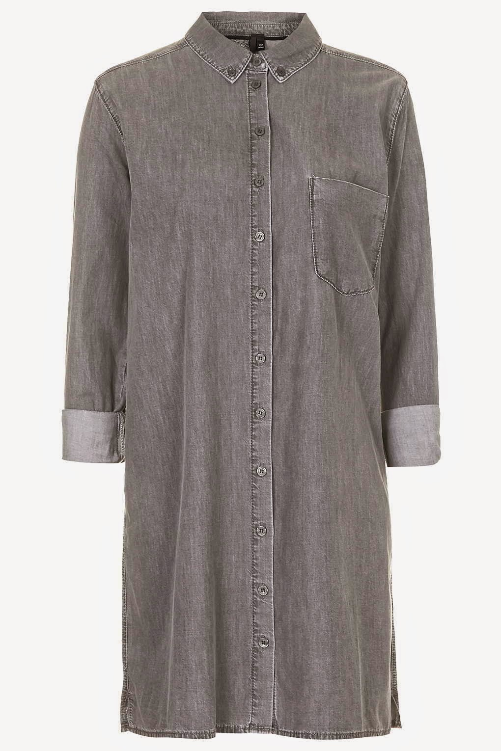 grey denim shirt dress