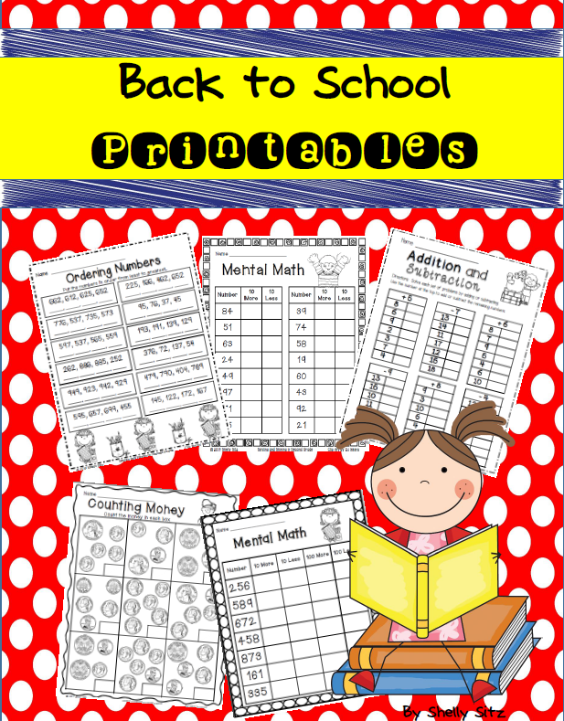 Back to School Math Freebie