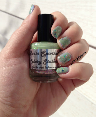 Paris Sparkles Celery Stalker swatch in sun