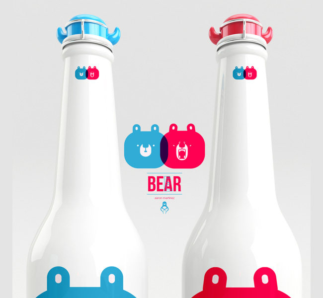 aaron martinez branding bear beer packaging