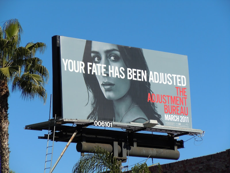 The Adjustment Bureau Fate billboard