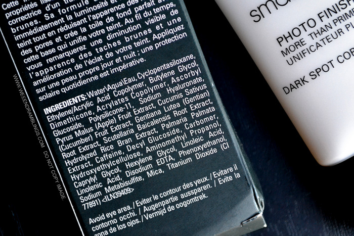 Smashbox Photo Finish More Than Primer Dark Spot Correcting Face Primer Review Indian Beauty Makeup Blog Ingredients