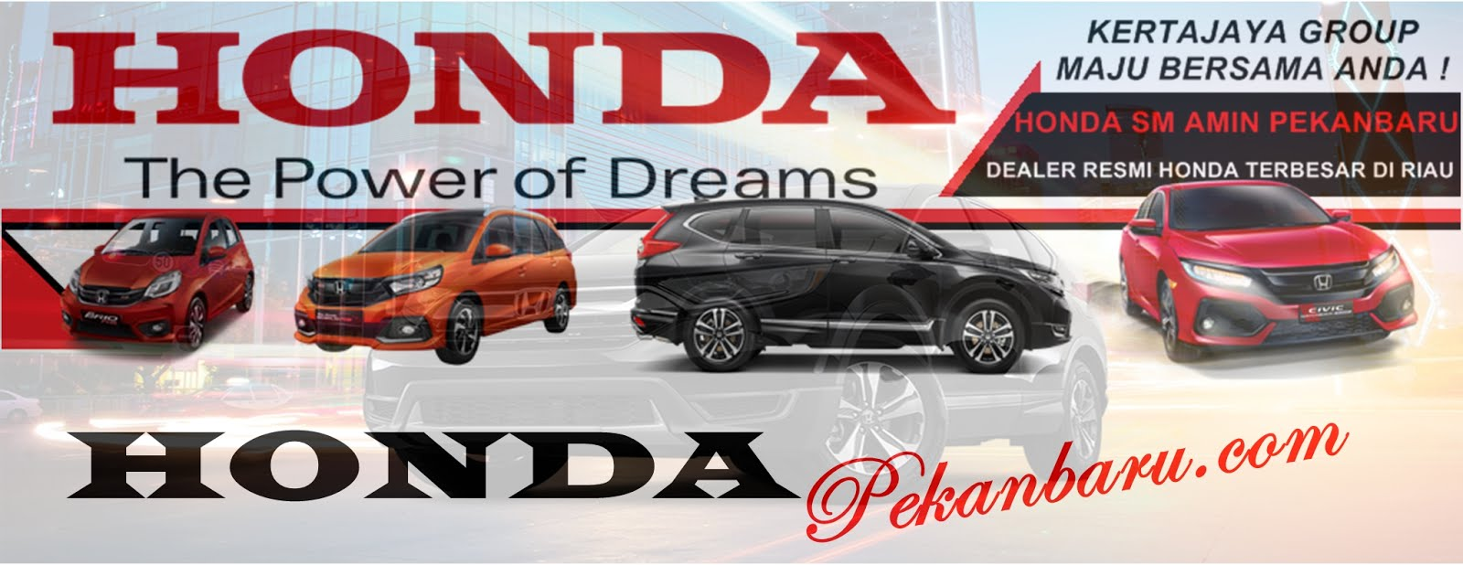 Harga, Kredit, Honda, Brio, Jazz, HRV, City, Civic Turbo, CRV, BRV, Pekanbaru,Riau November 2018